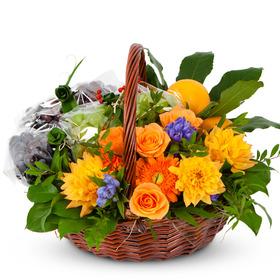 옐로우꽃과일바구니